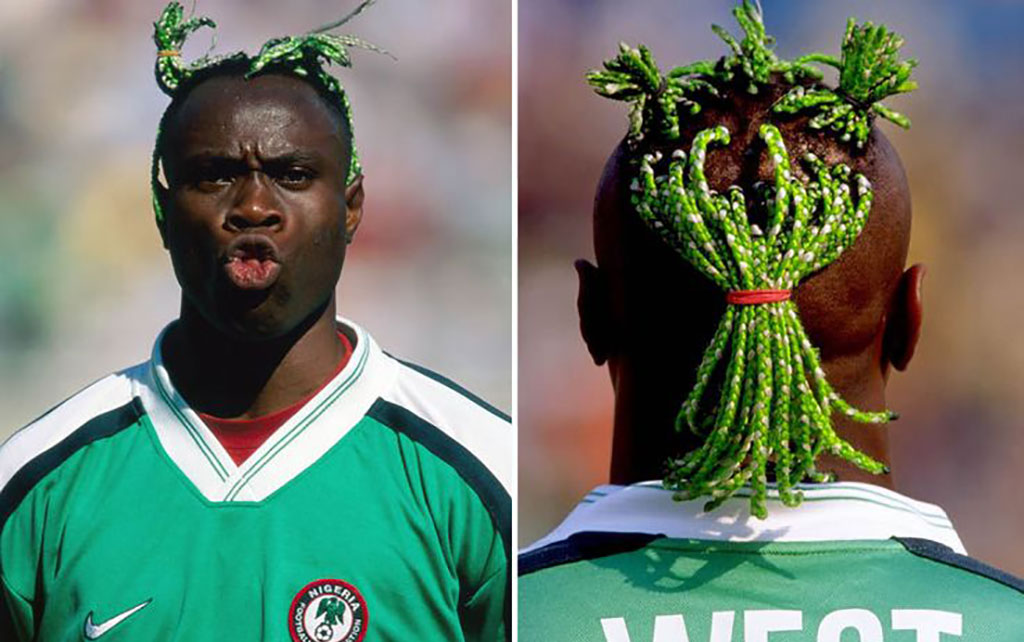 Taribo West pigtails