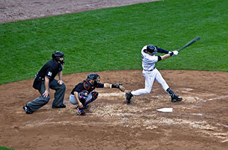 Derek Jeter in a game vs the Mets