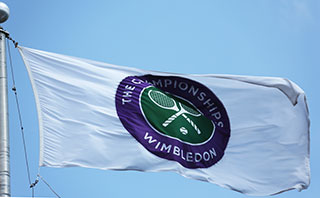 The Wimbledon championship flag