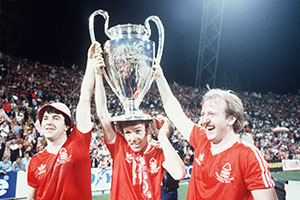 Nottingham Forest celebrating their 1979 Champions League win