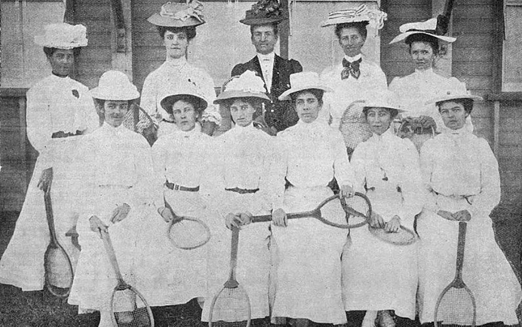 1880s womens tennis fashion