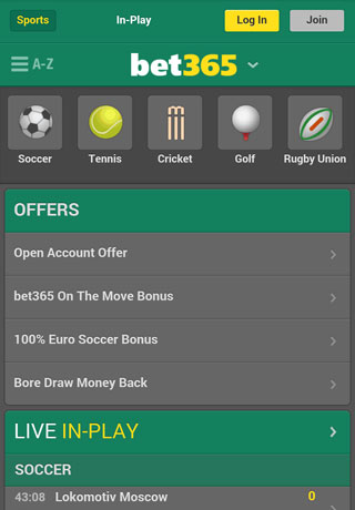 bet365 mobile site