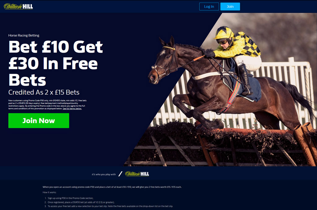 William Hill account sign up step one